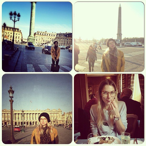 Aussie model Jess Hart struck a pose (or four) in Paris. Source: Instagram user 1jessicahart