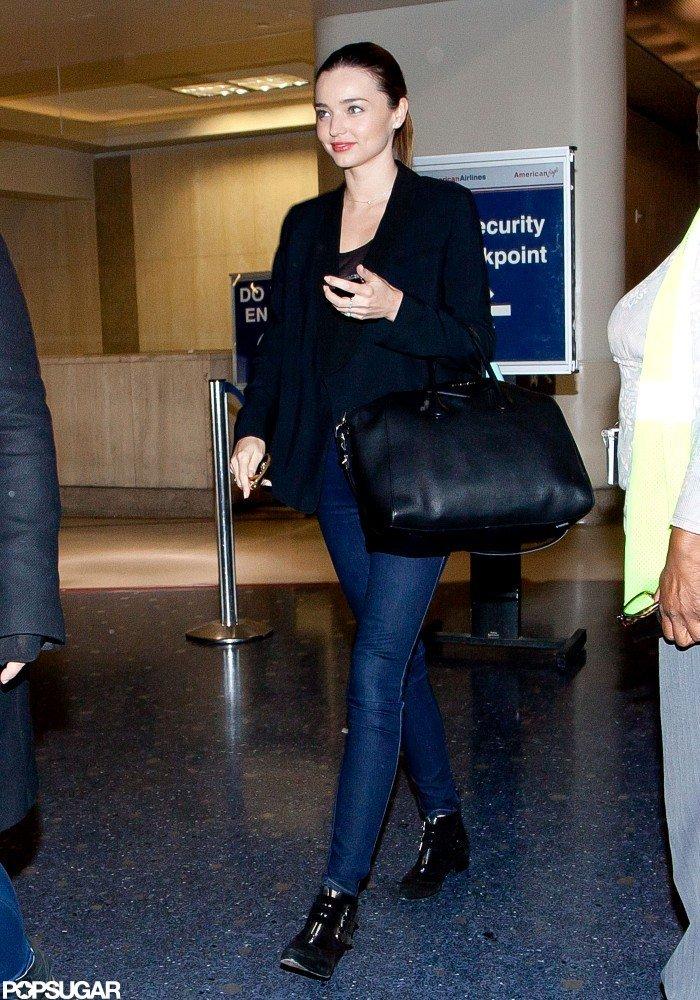 Miranda Kerr landed in LA.