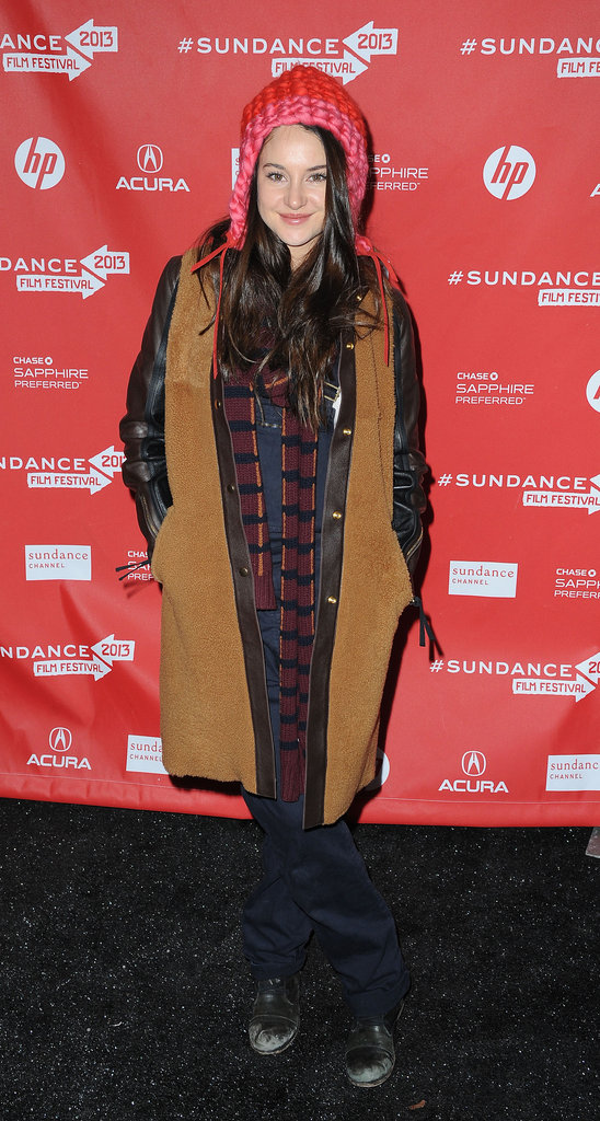 A slick, two-toned (not to mention, mixed-media) Marni coat is just the thing to take your Winter outfit from casual to cool, as evidenced by Shailene Woodley's The Spectacular Now premiere appearance.