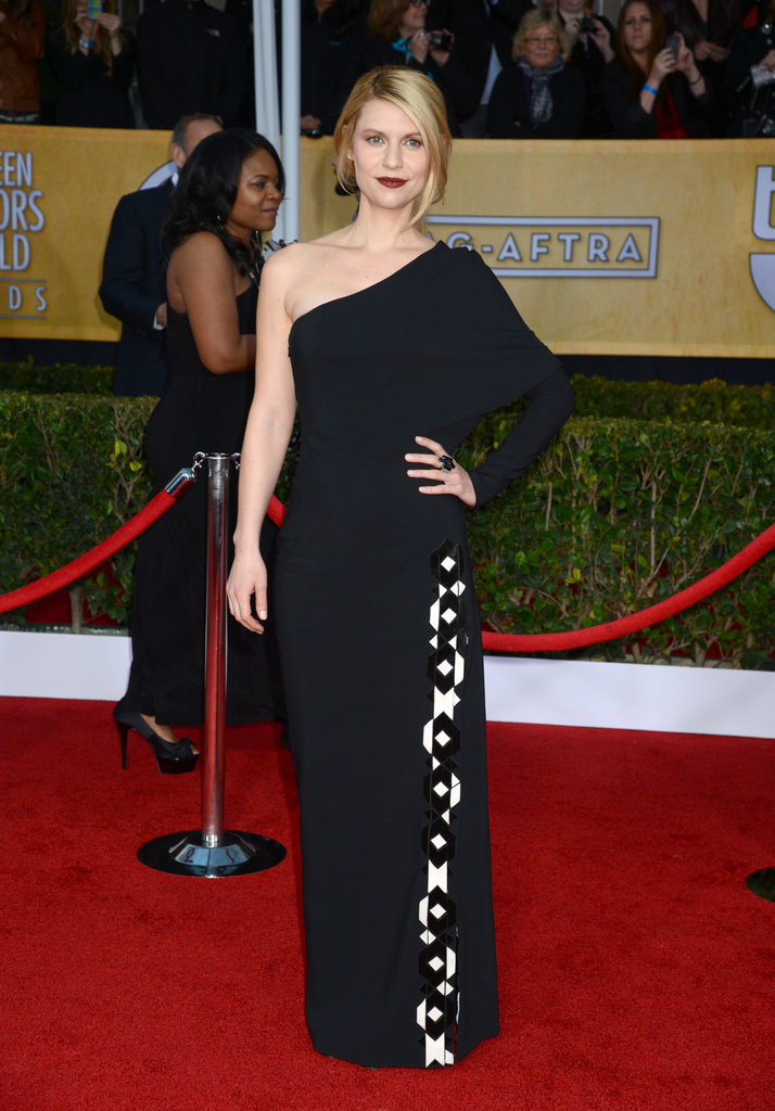 Claire Danes Goes Dark in Givenchy For the SAGs Red Carpet