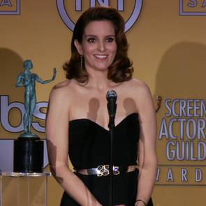 Tina Fey 2013 SAG Awards Press Room Video