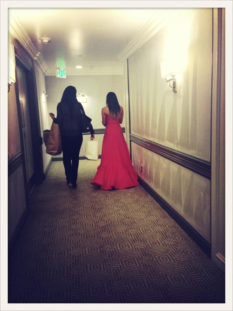 A look at the back of Lea Michele's gown. Source: Twitter user msleamichele