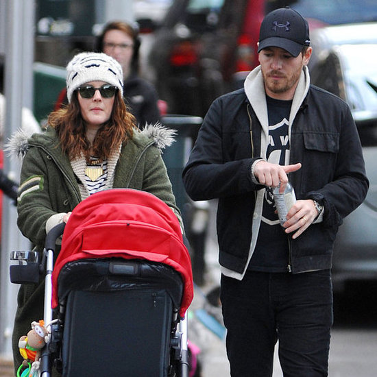 Drew Barrymore and Will Kopelman Walk With Olive   Pictures