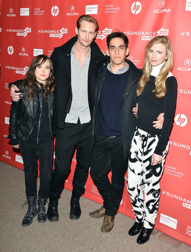 Ellen Page, Alexander Skarsgard, Zal Batmanglij, and Brit Marling posed together at the Sundance premiere of The East.