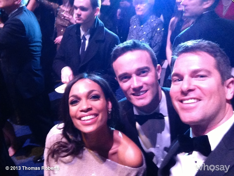 Thomas Roberts took a picture with Rosario Dawson on Monday night while watching Michelle and Barack Obama dance at The Inauguration Ball.  Source: WhoSay user ThomasRoberts