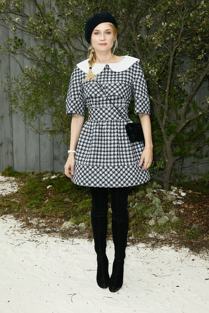 Diane Kruger wore Chanel to check out Chanel's show.