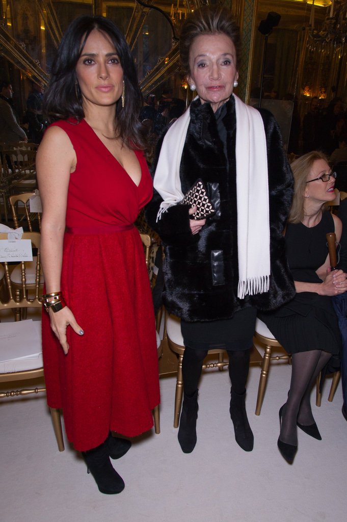 Salma Hayek and Lee Radziwill attend the Giambattista Valli show.