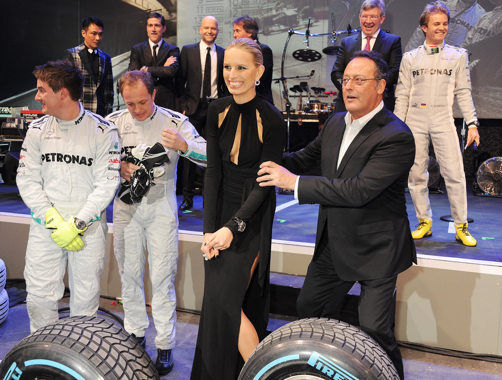 Karolina Kurkova participated in IWC's race night in Switzerland.