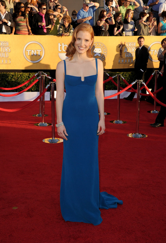 Jessica Chastain went for custom Calvin Klein in 2012.