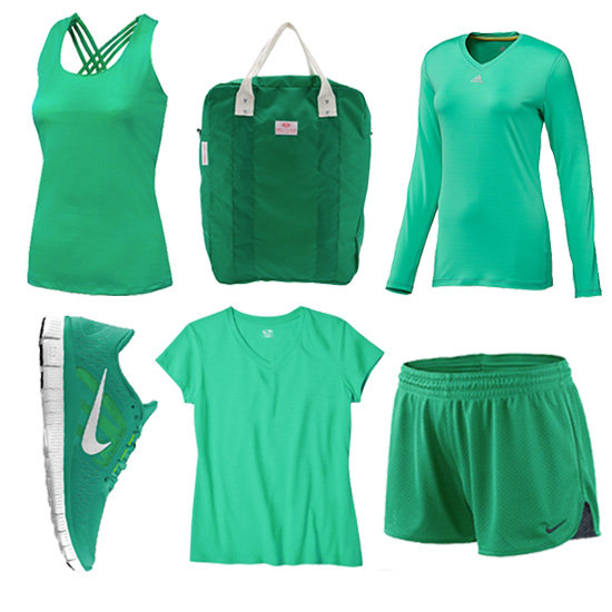 workout clothes in emerald green popsugar fitness