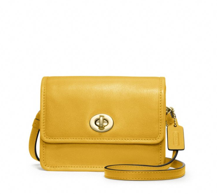 We're obsessed with this simple yet chic Coach mini crossbody bag ($128).