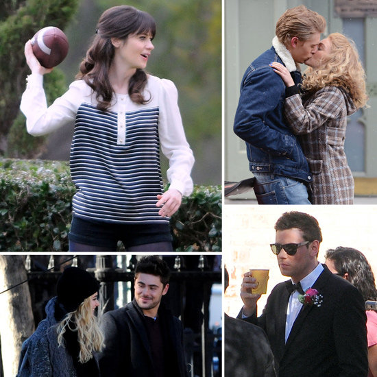 Zooey Deschanel, Zac Efron, Cory Monteith, and More Stars on Set