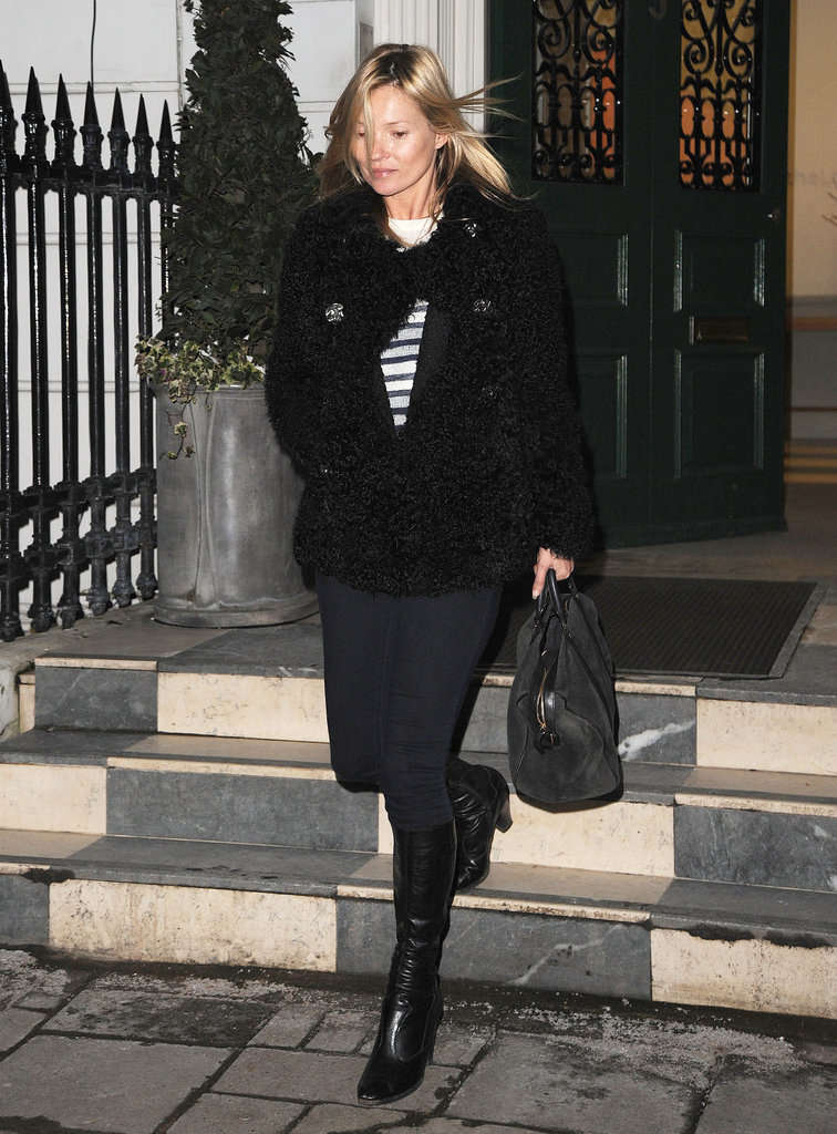 Kate Moss ran some errands in London.