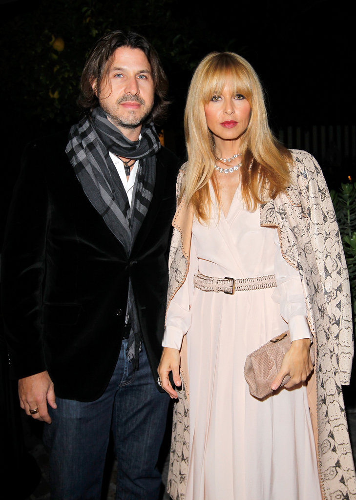 Rachel Zoe had husband Rodger Berman by her side for Ferragamo's Spring runway collection in LA.