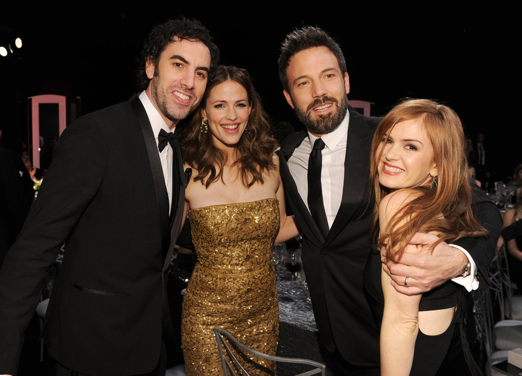 Ben Affleck and Jennifer Garner celebrated at the SAGs with Sacha Baron Cohen and Isla Fisher.