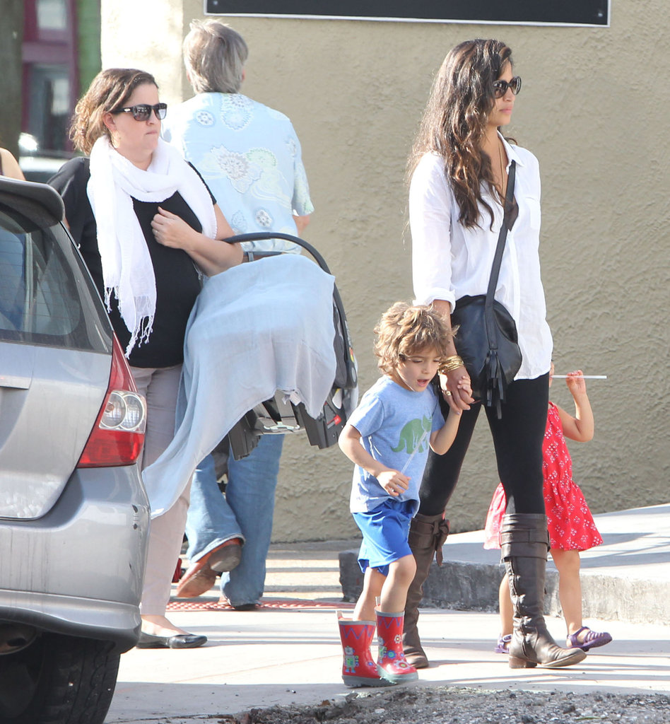 Camila Alves and her kids Levi and Vida grabbed lunch in New Orleans Saturday.