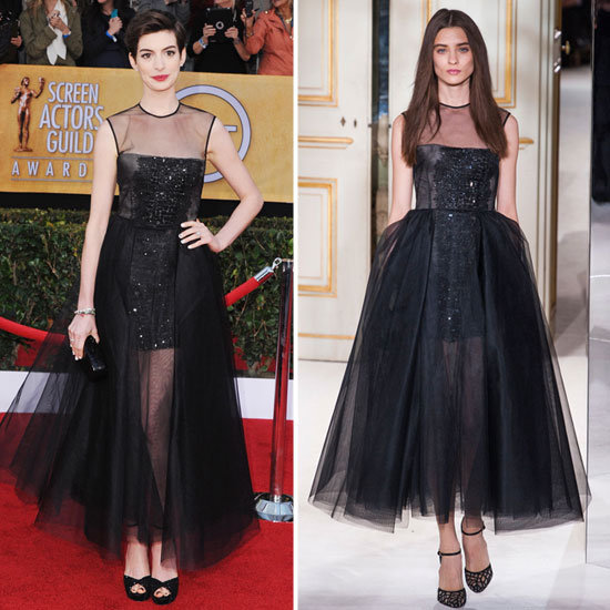 Anne Hathaway in Giambattista Valli Couture Spring '13.