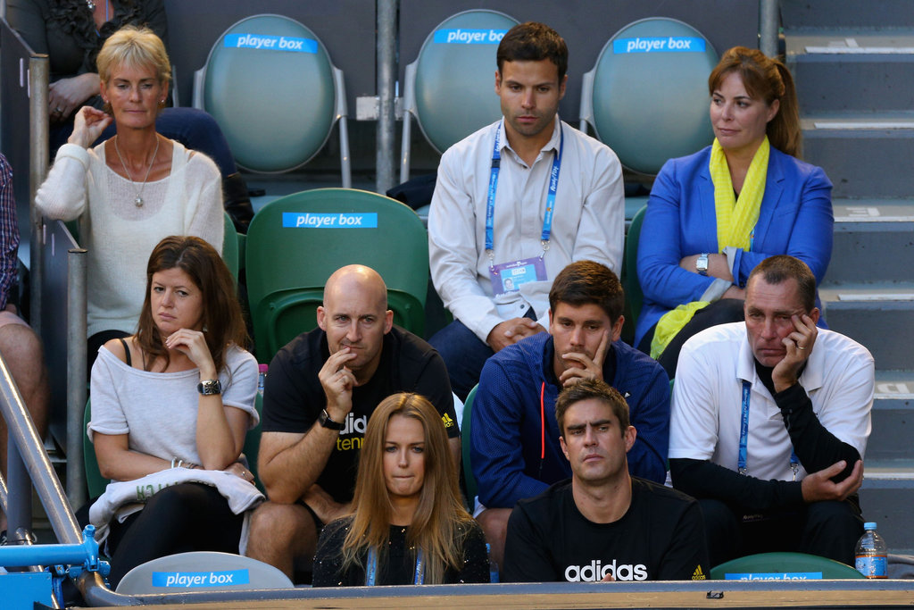 Judy Murray, Kim Sears and Ivan Lendl