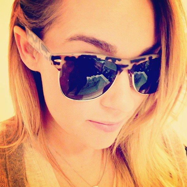 Lauren showed off her new LC Lauren Conrad shades.  Source: Instagram user laurenconrad