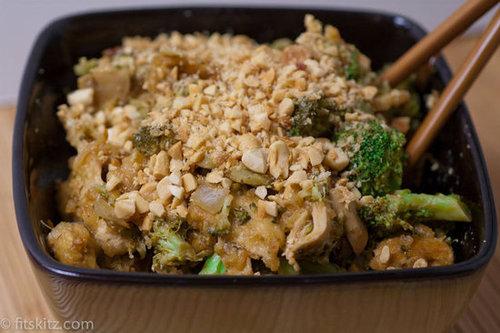 Vegan Thai Peanut Bowl