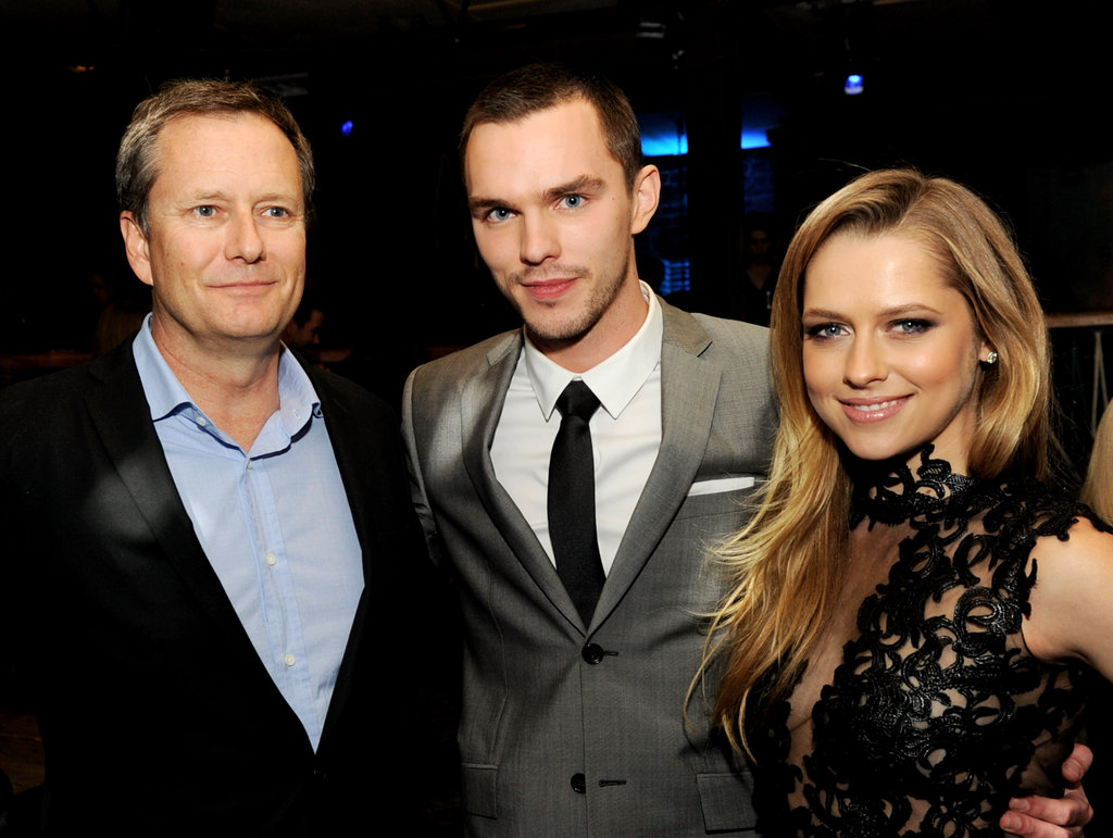 Teresa Palmer and Nicholas Hoult talked with Michael Burns at the film's after party at The Colony in LA.