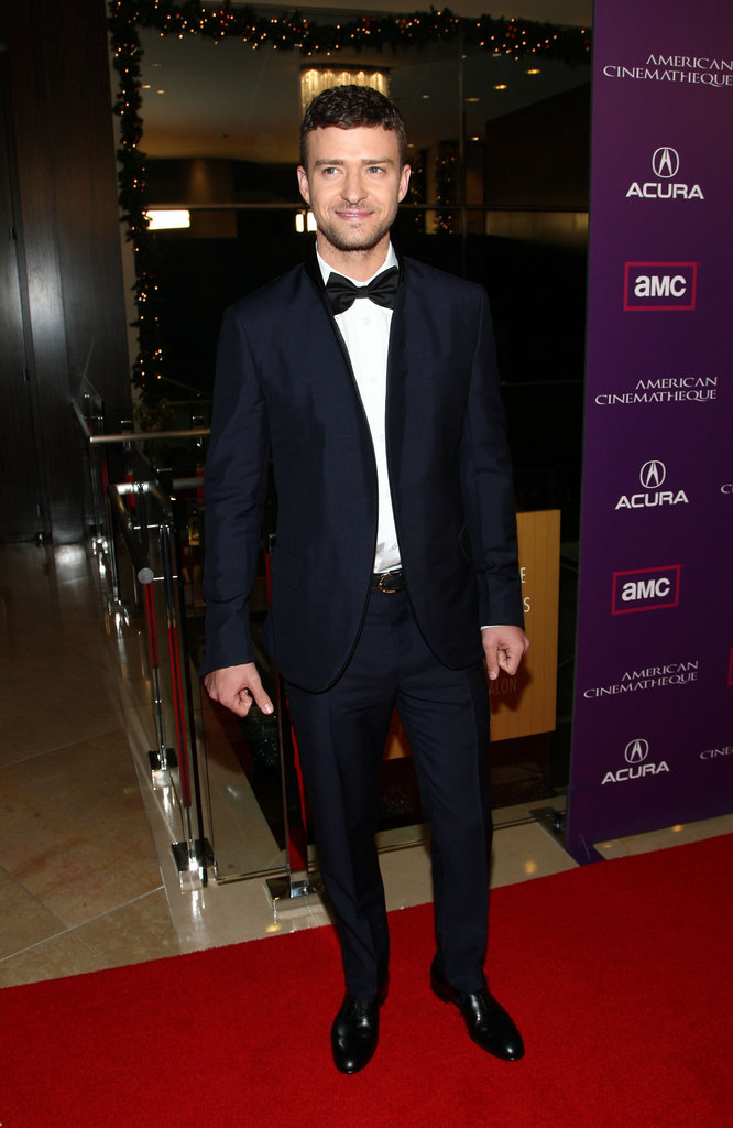 Justin was all class in a suit and bow tie at the American Cinematheque show in December 2008.