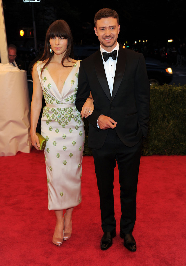 Justin was a stylish companion for Jessica Biel at the Met Gala in May 2012.