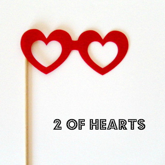 Two of Hearts Glasses