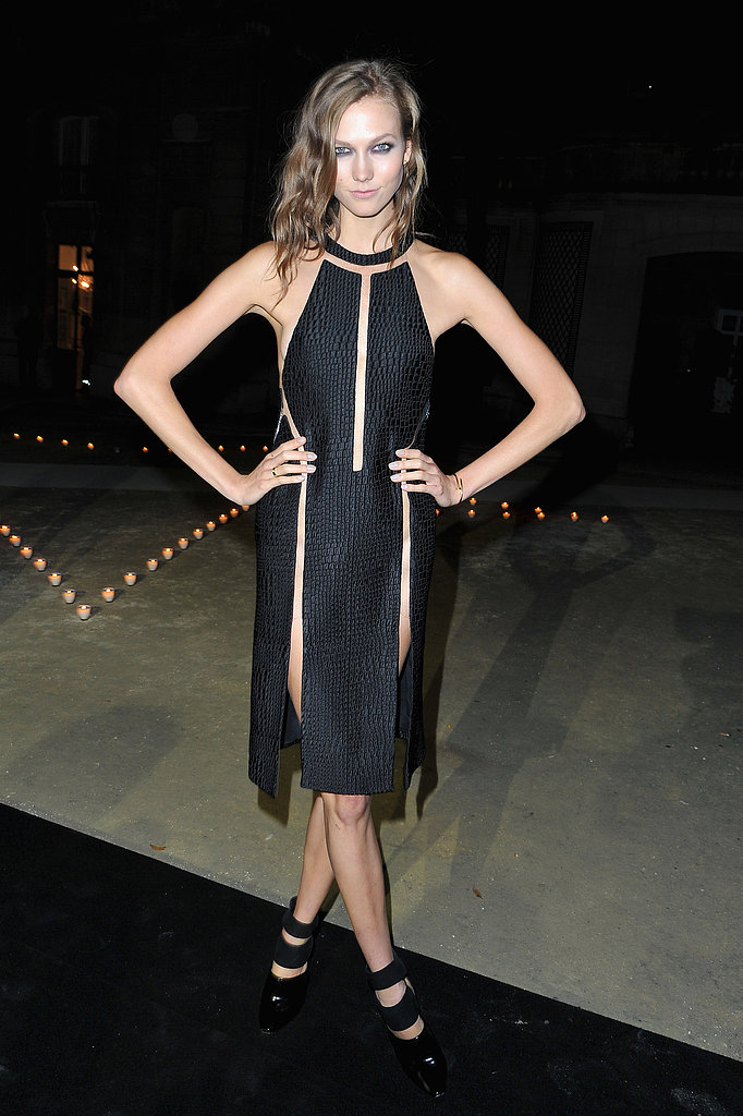 Karlie Kloss donned one of Alexander Wang's sultry Spring '13 LBDs to the Carine Roitfeld for MAC party in Paris.