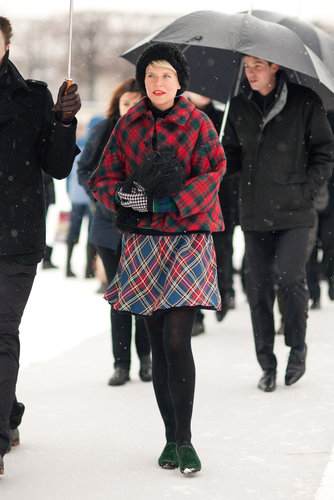 Plaid on plaid is Winter's perfect print on print. Source: Adam Katz Sinding