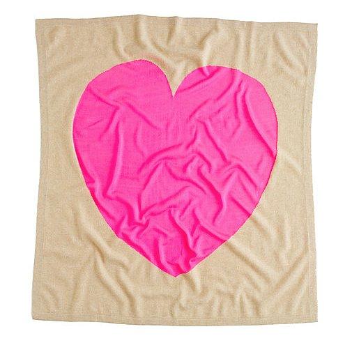 J.Crew Heart Me Cashmere Blanket