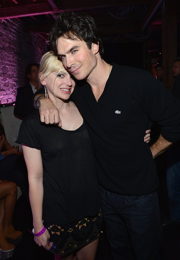 Ian Somerhalder held Anna Faris close during the Audi Super Bowl cocktail party on Friday.