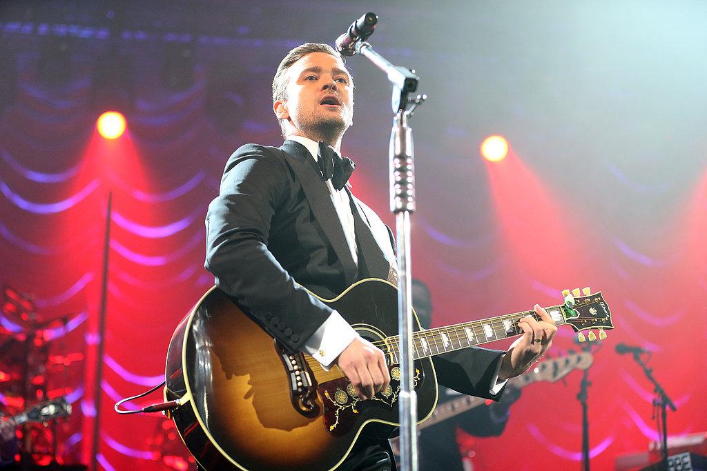 Justin Timerblake gave a live performance at DIRECTV's Super Saturday Night pre-Super Bowl party.