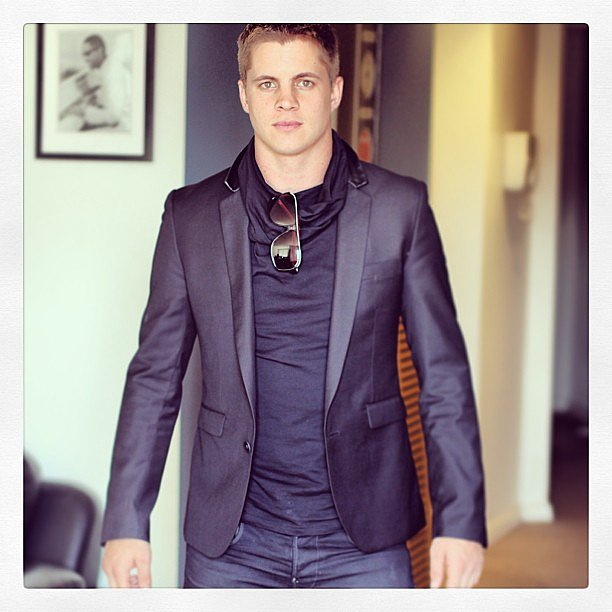 Johnny Ruffo was looking the opposite of rough in this dapper ensemble. Source: Instagram user johnny_ruffo