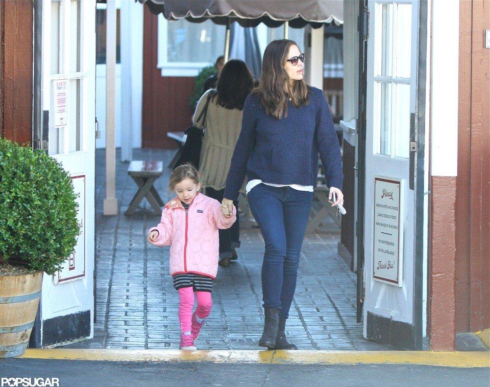 Jennifer Garner and Seraphina Affleck got breakfast at Brentwood Country Mart together.