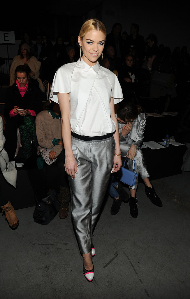 On Saturday, Jaime King attended the Prabal Gurung runway show.