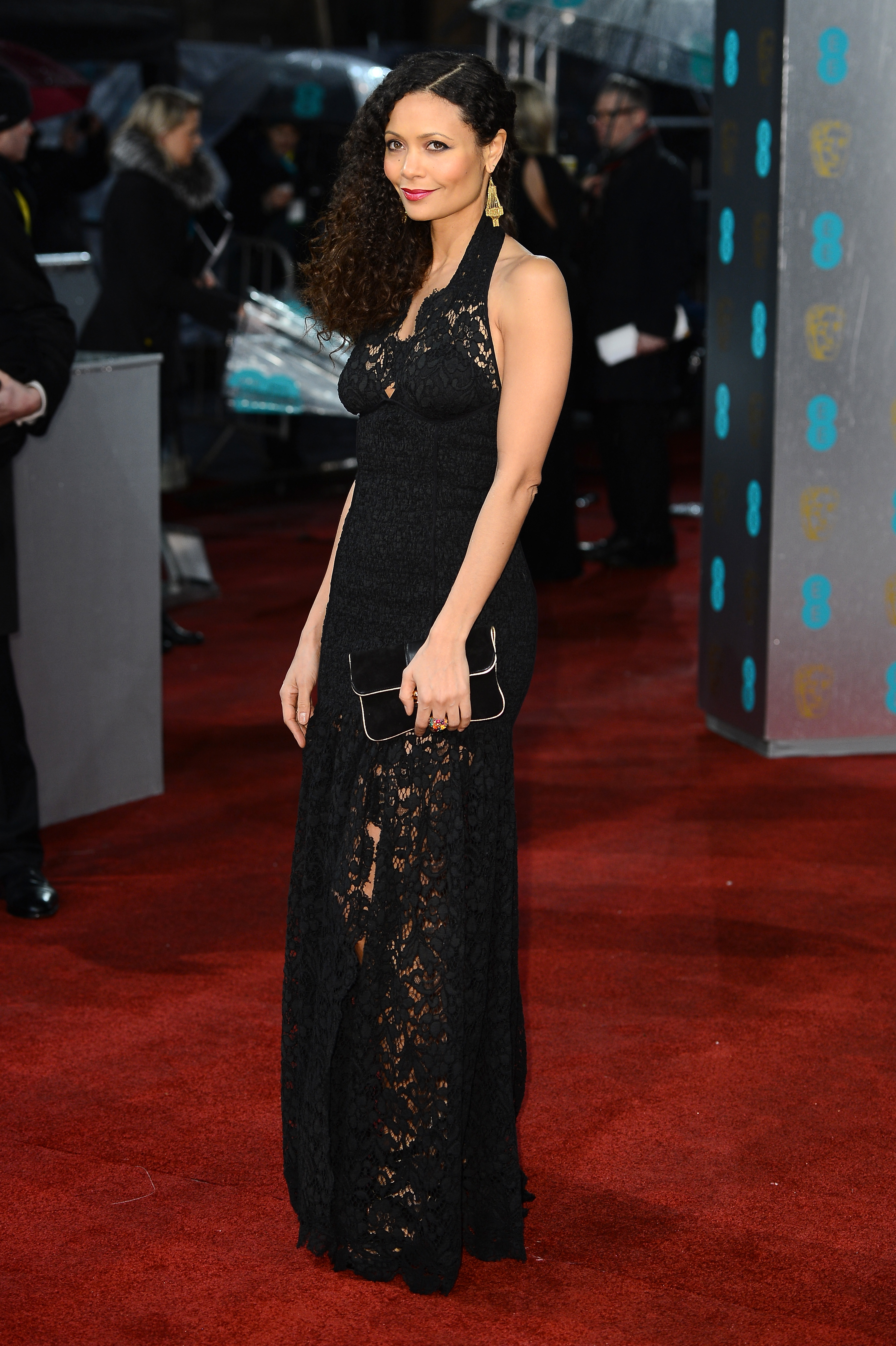 Thandie Newton stunned in a lace gown.