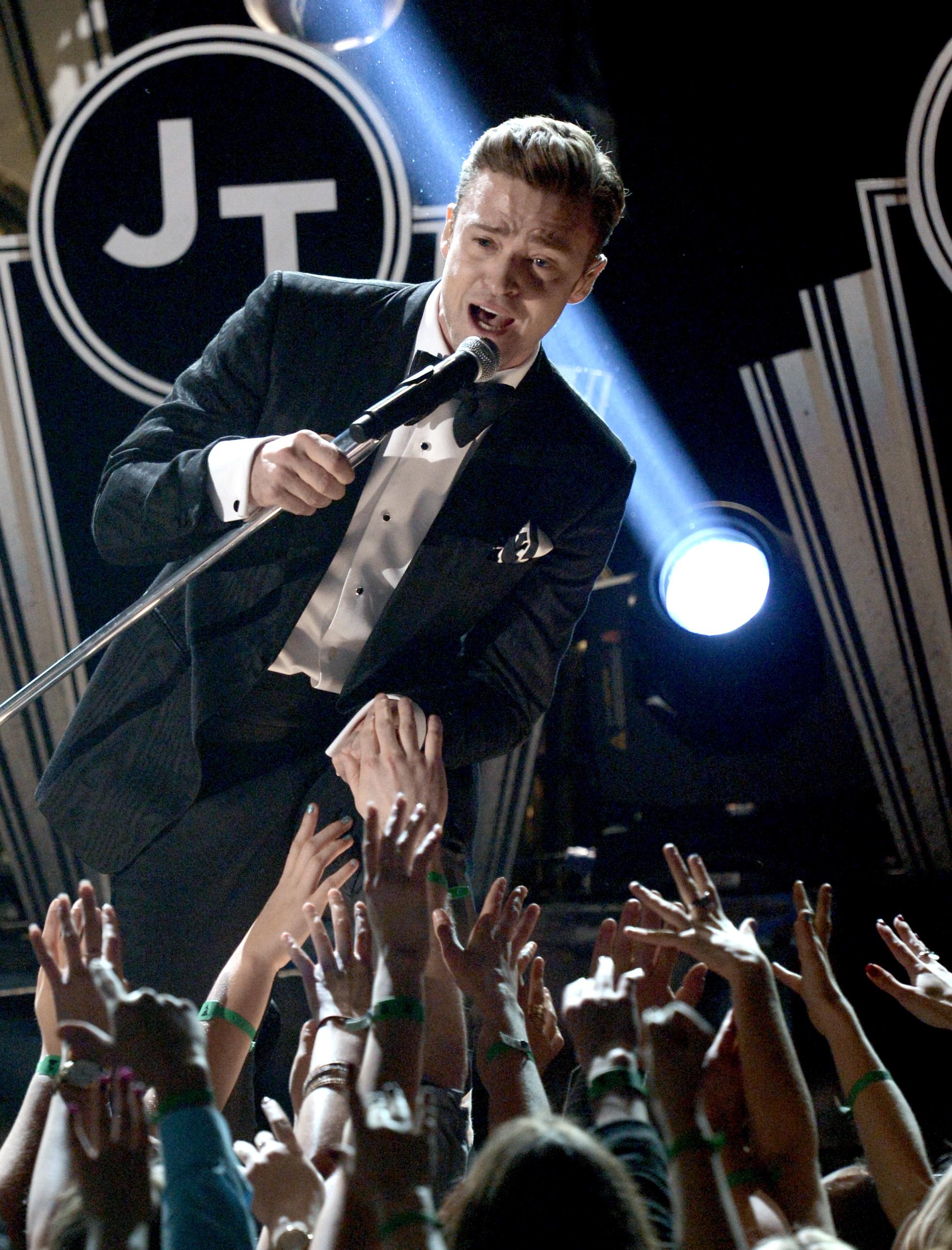 Justin Timberlake sang to the audi