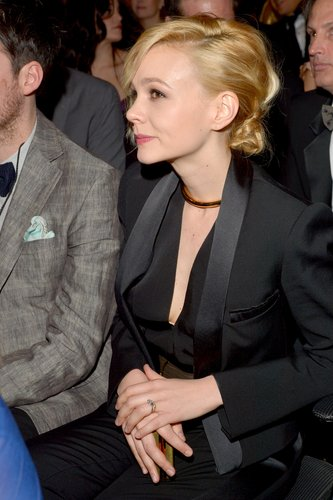Carey Mulligan was on hand to support husband Marcus Mumford of Mumford & Sons.