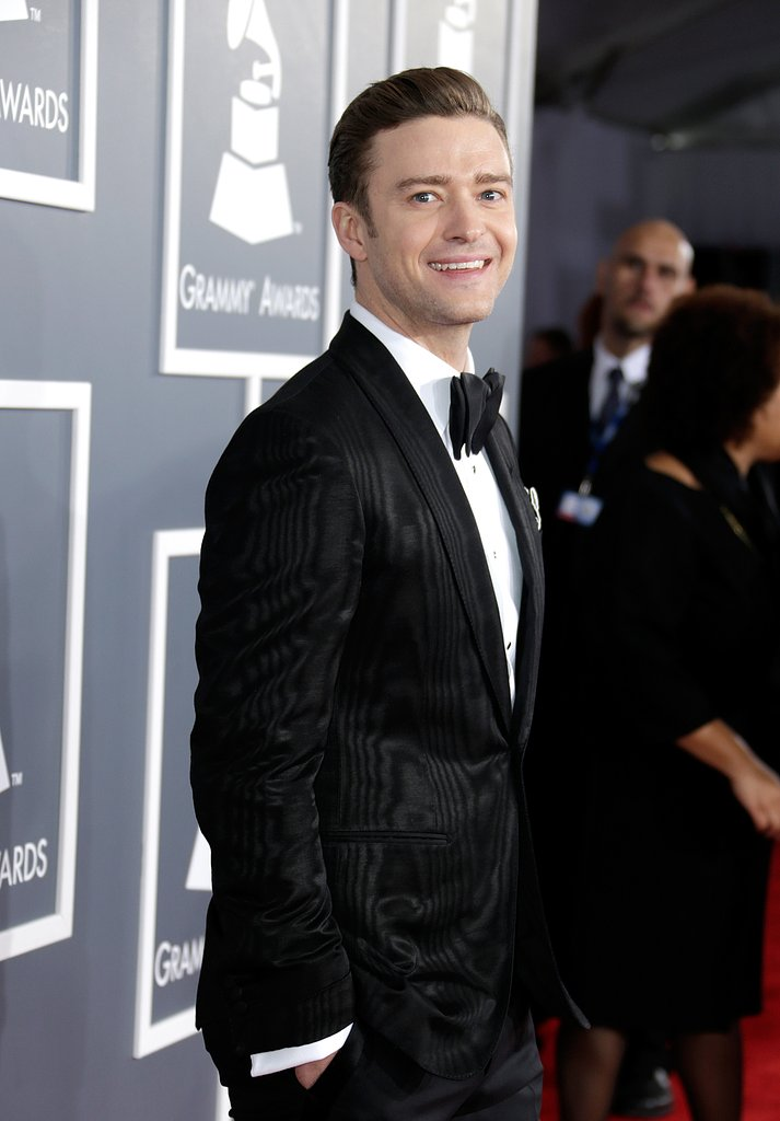 Justin Timberlake smiled as he arrived.