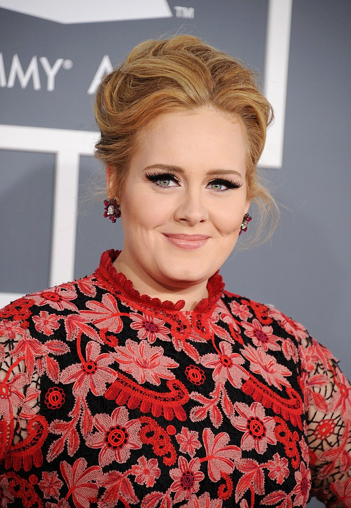 Adele glowed at the Grammys.