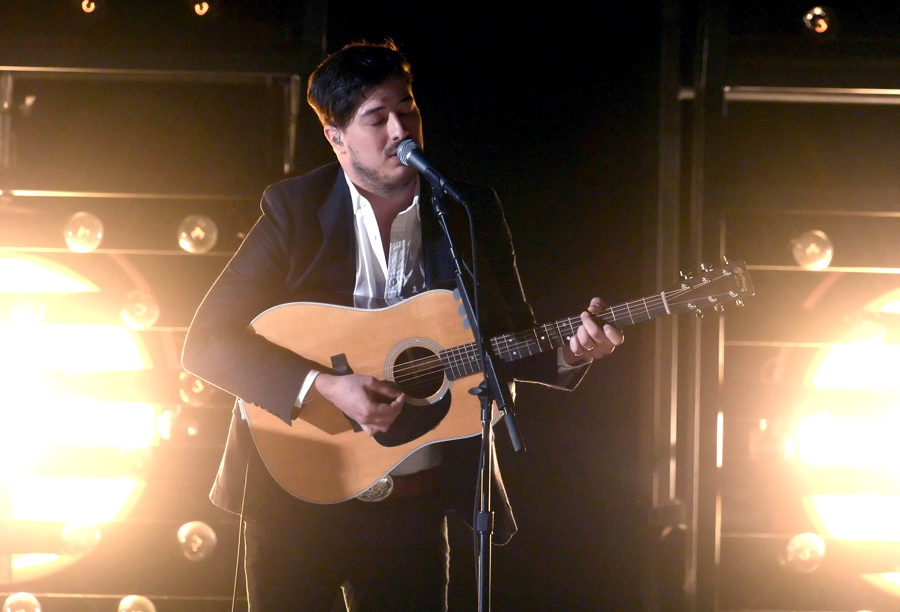 Mumford & Sons performed at the Grammys.