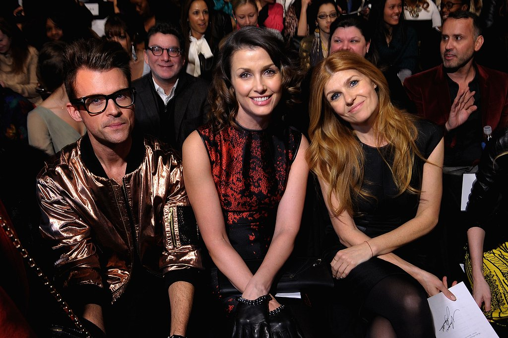 Brad Goreski, Bridget Moynahan, and Connie Britton had prime seats for Monique Lhuillier's presentation at New York Fashion Week in February.