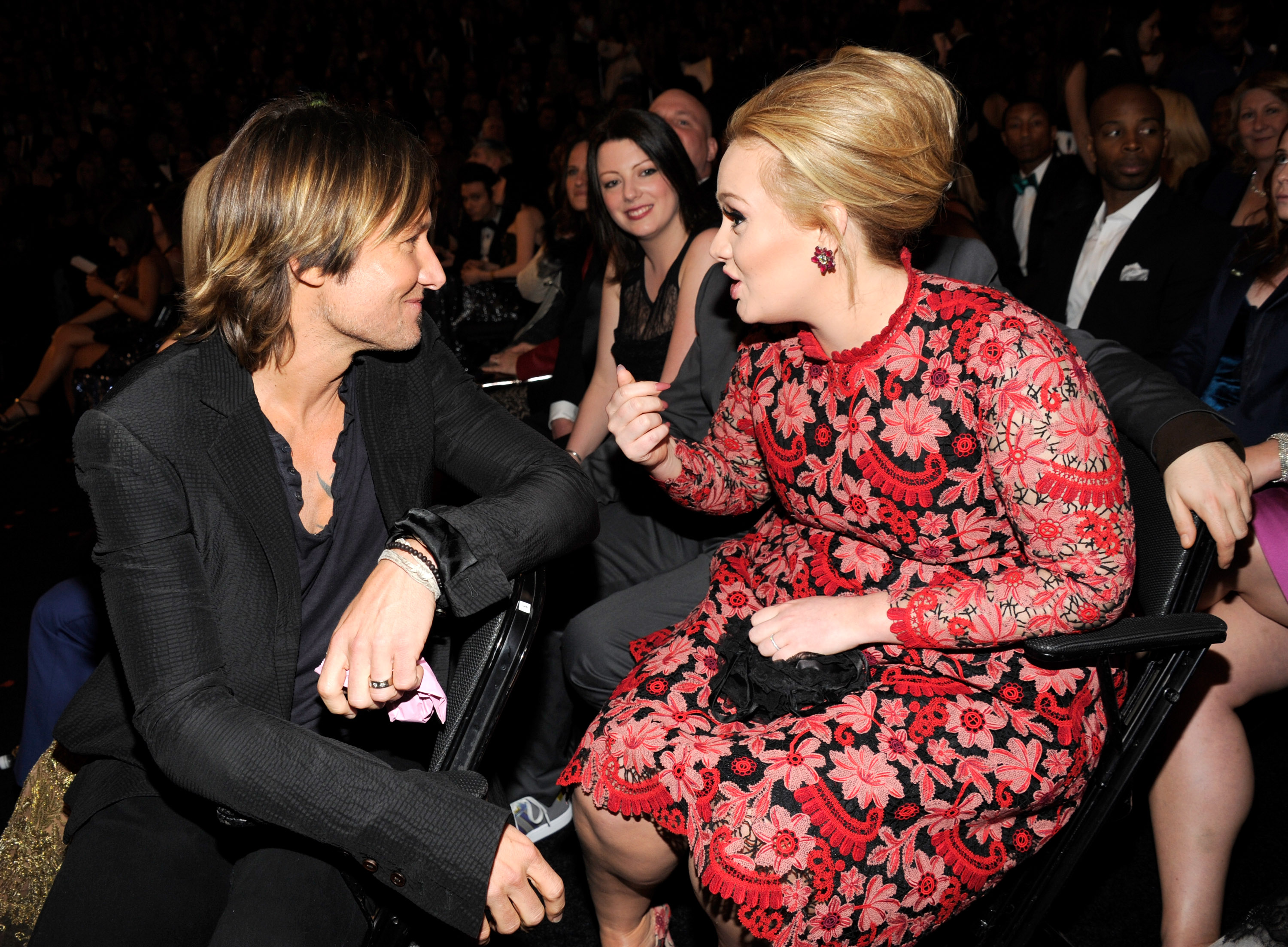 Adele chatted with Keith Urban before her big win.