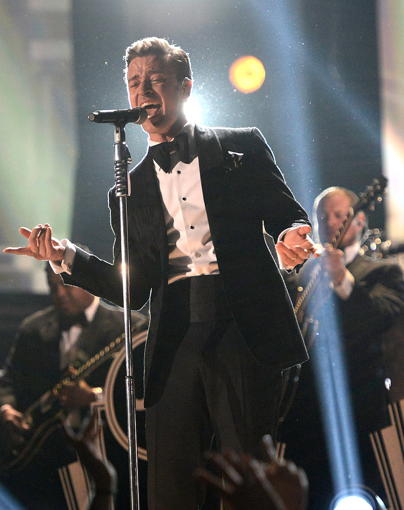 Justin Timberlake performed for the crowd.