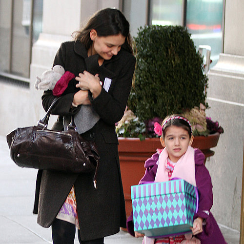 Katie Holmes and Suri Cruise Going to a Party (Pictures)