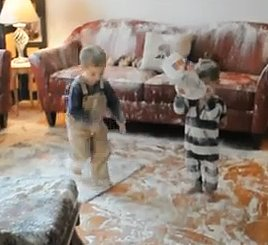 Children Destroy Home with Bag of Flour