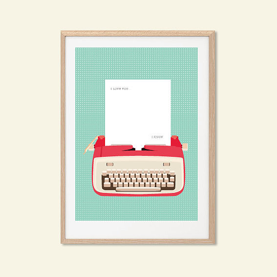 Typewriter Star Wars Poster