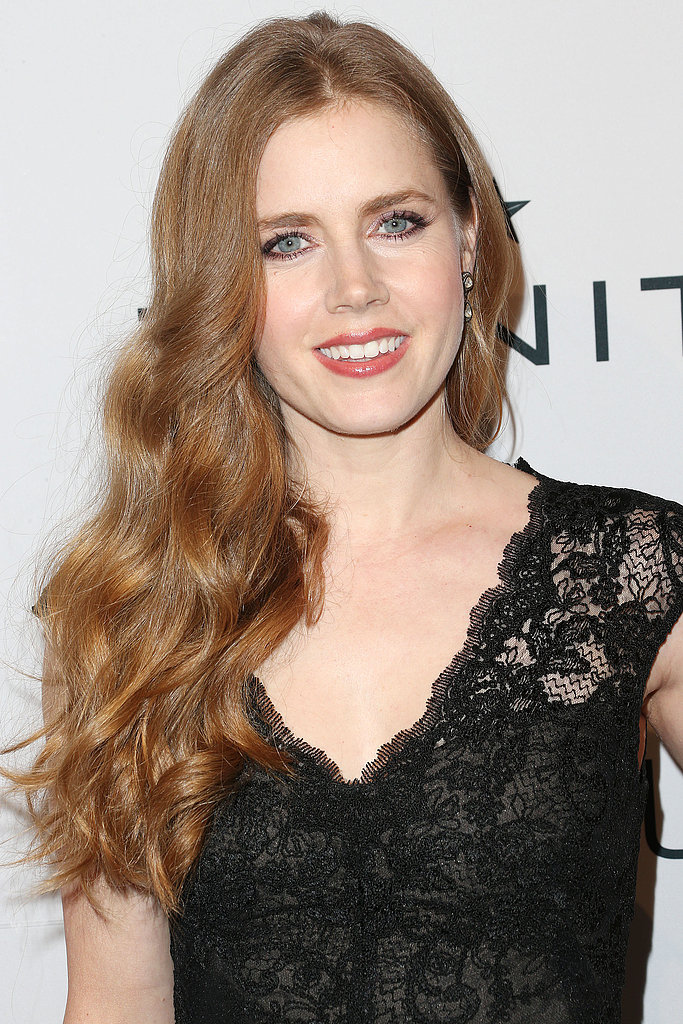 Amy Adams wore black lace.