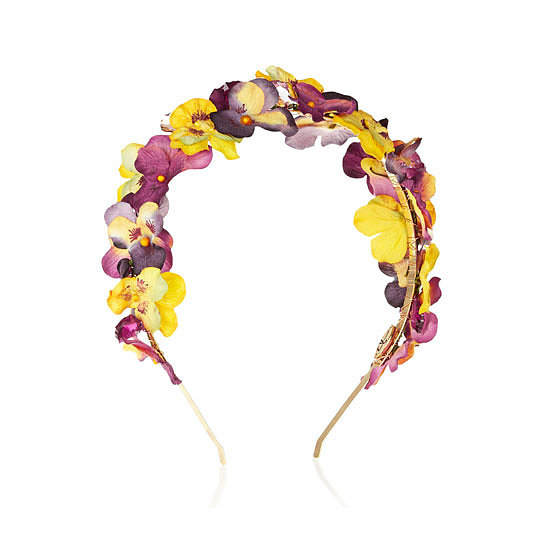 Eugenia Kim Parker Paper-Flower and Crystal Headband, approx $309